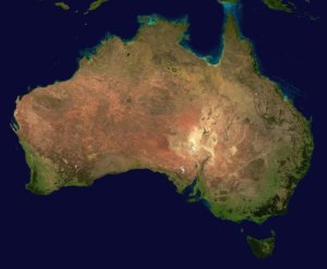 Satellite picture of Australia