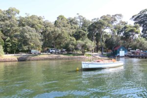 Fishing boat at Nungurner, Gippsland Lakes, Victoria