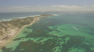 Aerial view of Point Nepean, Port Phillip Bay
