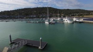 Aerial view of Martha Cove marina, Safety Beach, Victoria