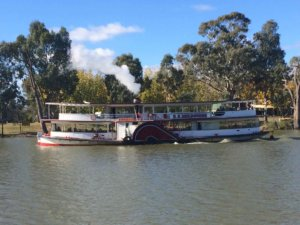 The Paddlesteamer Melbourne on the Murray River Victoria