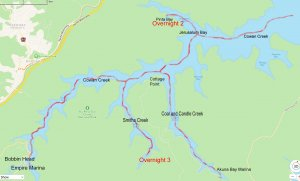 Map of Cowan and Coal and Candle Creek, Hawkesbury River, NSW