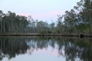 Sunset on the Myall River, NSW at Black Oaks